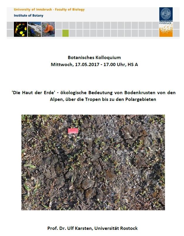 Botanisches Kolloquium Mittwoch, 17.05