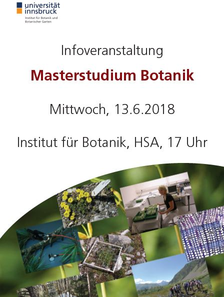 Infoveranstaltung master botanik 2018