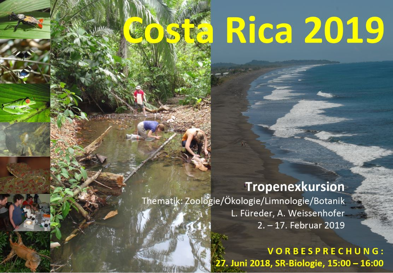 Costa Rica exkursion 2019